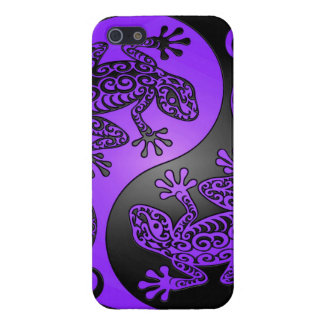 Purple and Black Yin Yang Geckos Cover For iPhone SE/5/5s