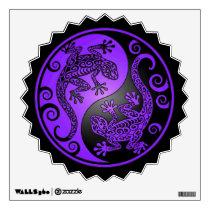 Purple and Black Yin Yang Geckos Wall Decal