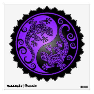Purple and Black Yin Yang Geckos Room Decals