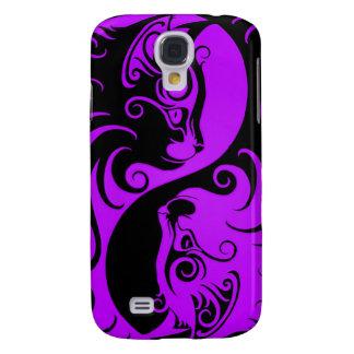 Purple and Black Yin Yang Kittens Galaxy S4 Covers