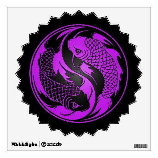 Koi fish wall decals koi fish wall stickers for any room for Purple koi fish for sale