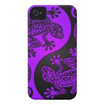 Purple and Black Yin Yang Lizards Case-Mate iPhone 4 Case