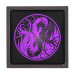 Purple and Black Yin Yang Phoenix Premium Trinket Boxes