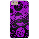 Purple and Black Yin Yang Roses Barely There iPhone 6 Plus Case