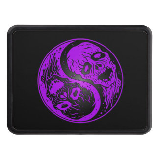 Purple and Black Yin Yang Zombies Hitch Cover