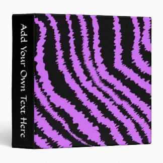 Purple and Black Zebra Print Pattern. 3 Ring Binder