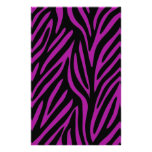 Purple and Black Zebra Print Personalized Stationery