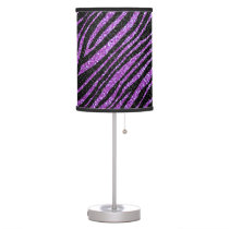 Purple and Black Zebra stripe pattern Desk Lamp