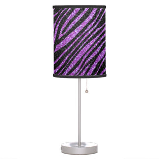 Purple and Black Zebra stripe pattern Desk Lamp
