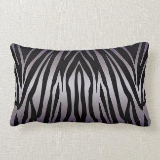 Purple and Black Zebra Striped Throw Pillow