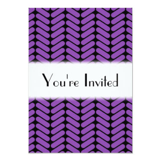 Purple and Black Zigzags Pattern. Card