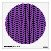 Purple and Black Zigzags Pattern. Wall Decal