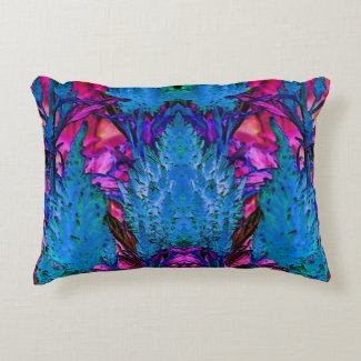 Purple and Blue Abstract Accent Pillow