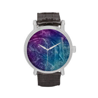 Purple and blue abstract art watch