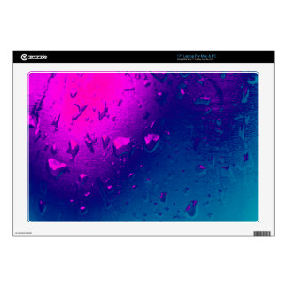 """Purple and Blue Abstract Design 17"""" Laptop Skin"""