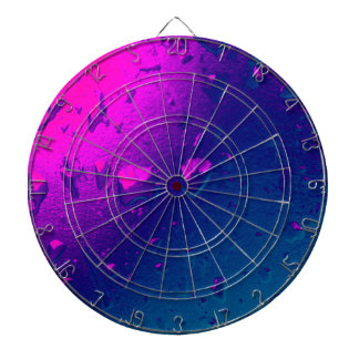 Purple and Blue Abstract Design Dart Board