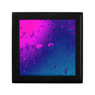 Purple and Blue Abstract Design Keepsake Box