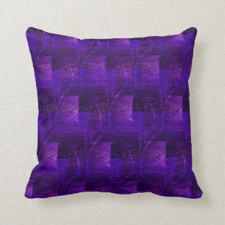 Purple and Blue Abstract Pattern Throw Pillow