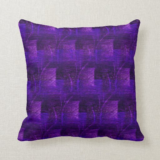 Blue Purple Throw Pillows : Purple and Blue Abstract Pattern Throw Pillow Zazzle