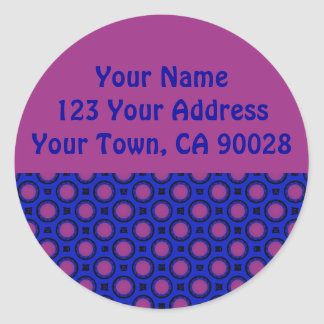 Purple and Blue Address Labels