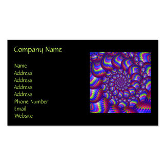 Purple and Blue Balls Fractal Pattern Business Card Templates