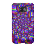 Purple and Blue Balls Fractal Pattern Samsung Galaxy S2 Cases