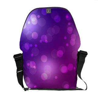 Purple and Blue Bokeh Messenger Bags
