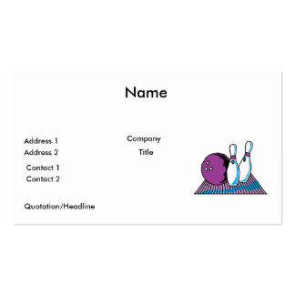 purple and blue bowling design business card templates