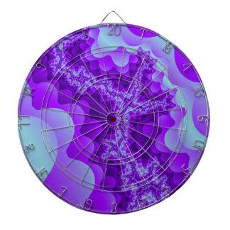 Purple And Blue Bubble Coral Fractal Design Dart Board