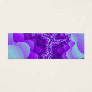 Purple And Blue Bubble Coral Fractal Design Mini Business Card