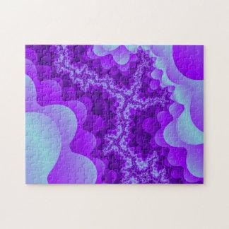 Purple And Blue Bubble Coral Fractal Design Puzzle