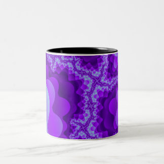 Purple And Blue Bubble Coral Fractal Design Two-Tone Coffee Mug