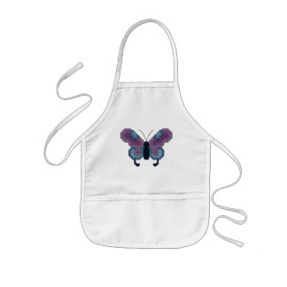 Purple and Blue Butterfly Apron