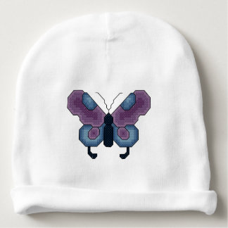 Purple and Blue Butterfly Baby Beanie