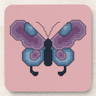 Purple and Blue Butterfly Coasters