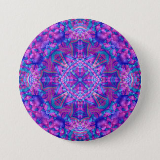 Purple And Blue Buttons, square or round Button