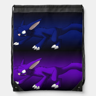 Purple and Blue Cat Dragons Backpack