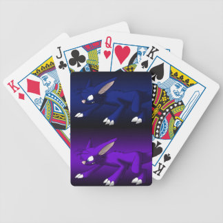 Purple and Blue Cat Dragons Playing Cards Bicycle Playing Cards