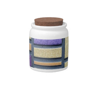 Purple and Blue Ceramic Tile Candy Jars