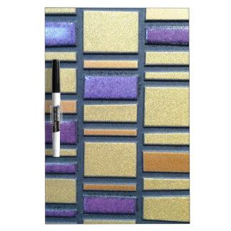 Purple and Blue Ceramic Tile Dry Erase Whiteboard