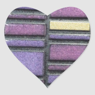 Purple and Blue Ceramic Tile Remix Heart Sticker