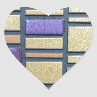 Purple and Blue Ceramic Tile Heart Sticker