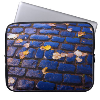 Purple and Blue Cobblestone Street Computer Sleeves