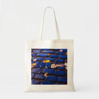 Purple and Blue Cobblestone Street Tote Bag