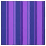 [ Thumbnail: Purple and Blue Colored Lined/Striped Pattern Fabric ]