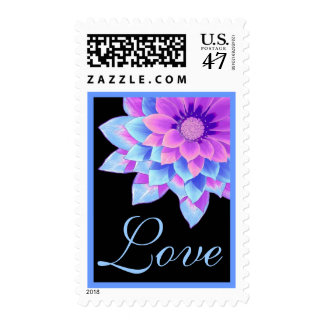 Purple and Blue Daisy Wedding Stamp