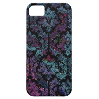 Purple and Blue Damask Pattern iPhone 5 Cases