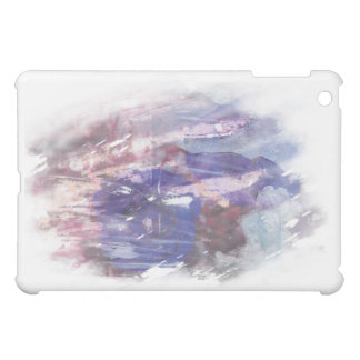 Purple and blue faded rose scratched art print iPad mini cases