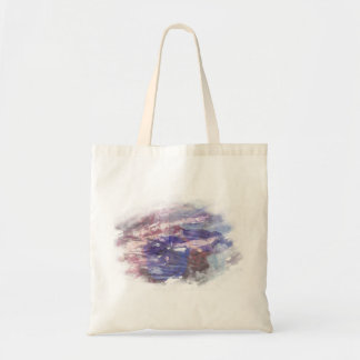 Purple and blue faded rose scratched art print tote bag
