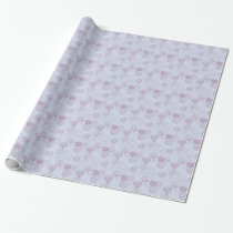 Purple and Blue Flower Burst Design Wrapping Paper